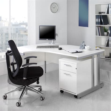 White Office Desk White Office Furniture For Timeless Style Actual Home