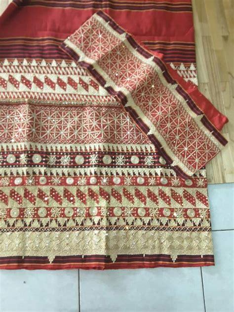 Sulam Aksesoris jual tapis sarung sulam tenun lung harga murah bandar lung oleh toko tapis elok lung