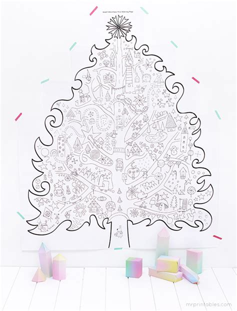 Christmas Printables Mr Printables Mr Willowby S Tree Coloring Pages