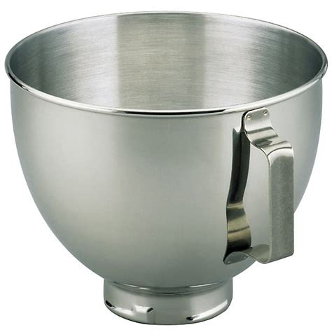 kitchenaid k45sbwh 4 5 quart stainless steel mixing bowl
