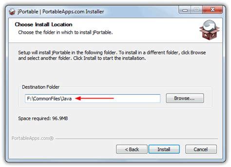 tutorial java usb how to install portable java runtime environment onto usb