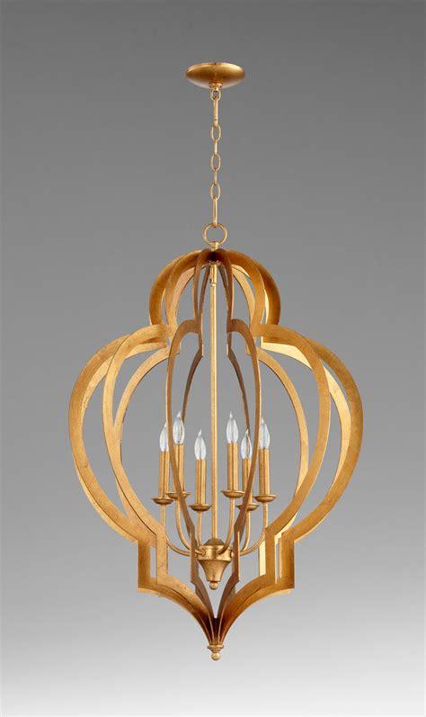 Gold Foil Chandelier Large Vertigo Gold Leaf Chandelier By Cyan Design