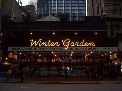 winter garden theater nyc cadillac winter garden theatre nyc
