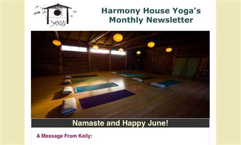 harmony house yoga june newsletter harmony house
