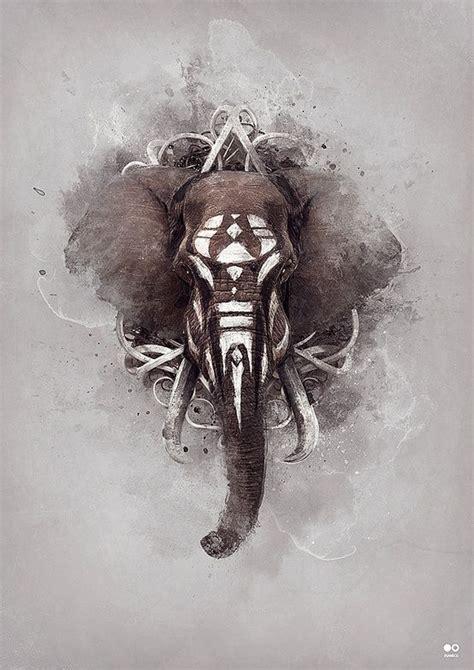 elephant tattoo inspiration superb digital art tribal elephant awesome tattoos and