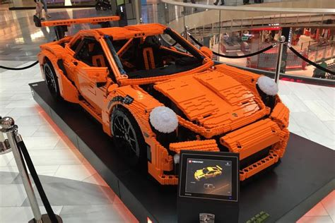 lego boat full size full size lego porsche gt3 rs on display in stockholm