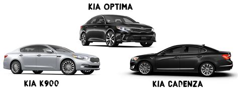 Kia Optima K900 Kia Sedans Kia Optima Cadenza And K900