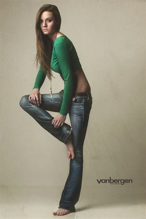 pose child model casual cool in a funky pose denim jeans form fitting