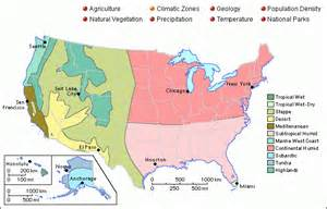 Climate Zone Map United States by Grolier Online Atlas