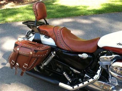 Harley Davidson White Brown 2012 sportster seats sportster leatherworks leather
