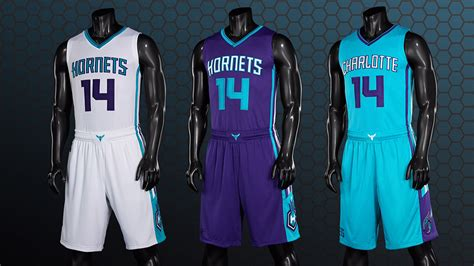 nba jersey design hornets charlotte hornets unveil three primary new uniforms