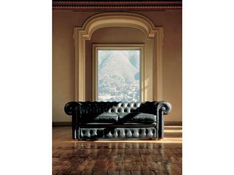 Klassisches Sofa 580 by Lancatser Kollektion Klassiches Leder Sofa Handarbeit