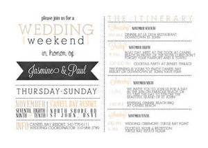 bridal itinerary template best 25 wedding weekend itinerary ideas on