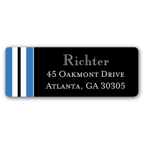 graduation silver blue return address labels paperstyle graduation stripe blue return address labels paperstyle