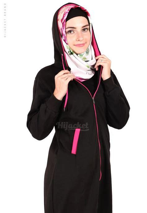 Hijaber Pink jaket hijaber basic black pink hijacket hj16 jaket