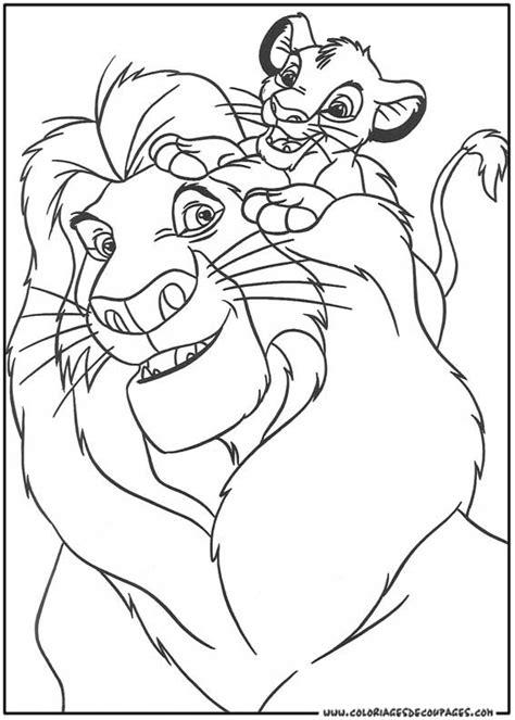 coloriage le roi lion gratuit à imprimer