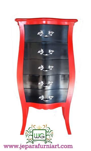 Nakas Laci Minimalis Warna Hitam Putih Dolanan Jati Furniture nakas mahoni cat duco 5 laci wibowo gallery wibowo gallery
