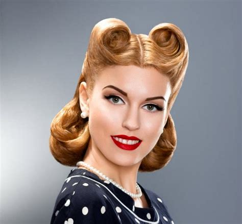 Simple Pin Up Hairstyle by Vintage Hairstyles Hairstyles