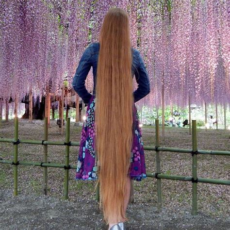 top 3 benefits of having long hair woman with 64 inch long hair has a very strange secret to