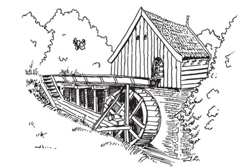 water mill coloring page watermill graphics and animated gifs picgifs com