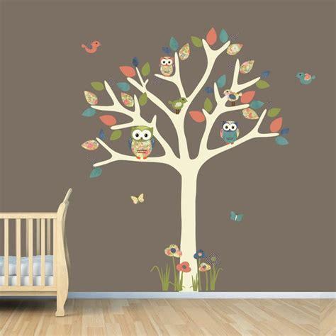 nursery wall decal owl tree decal owl owl tree wall