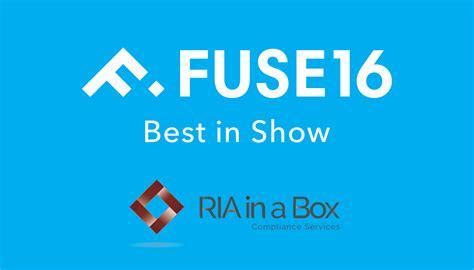 Fuse 2016 Award Winner: RIA in a Box   Best in Show