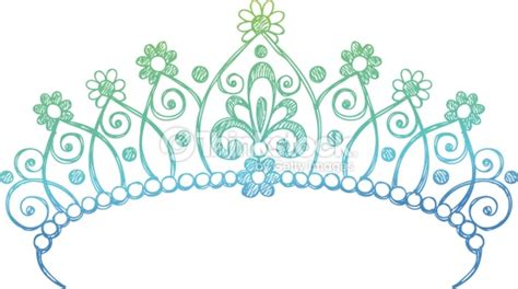 Handdrawn Sketchy Princess Tiara Crown Doodle Vector