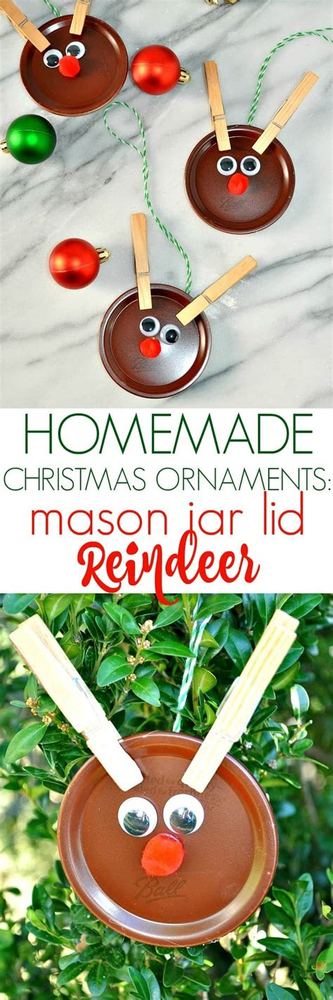 ornament craft for 10 year old ornaments jar lid reindeer the seasoned