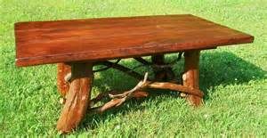 Cabin Coffee Tables Crafted Rustic Coffee Table With Mountain Laurel Base Log Cabin Furniture By Blue Ridge