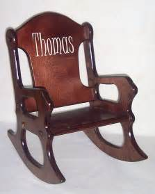 wooden rocking chair personalized cherry finish