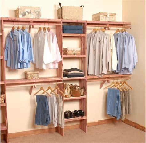 Cedar Closet Storage by Deluxe Solid Wall Closet Organization Kit 10 Closet