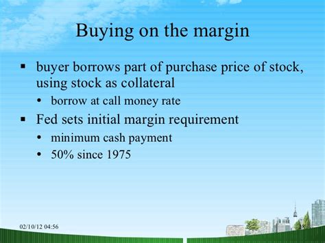 Mba In Stock Market by The Common Stock Market Ppt Mba Finance