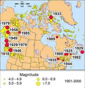 canada earthquake