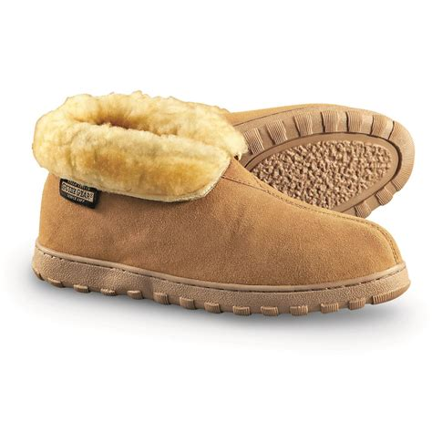 mens slipper booties guide gear s suede bootie slippers 77185 slippers