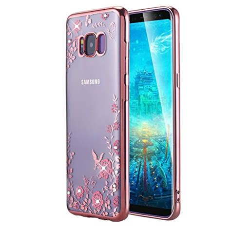 Samsung Galaxy S8 Back Casing Design 028 galaxy s8 lontect floral butterfly graden design pattern with bling clear soft tpu