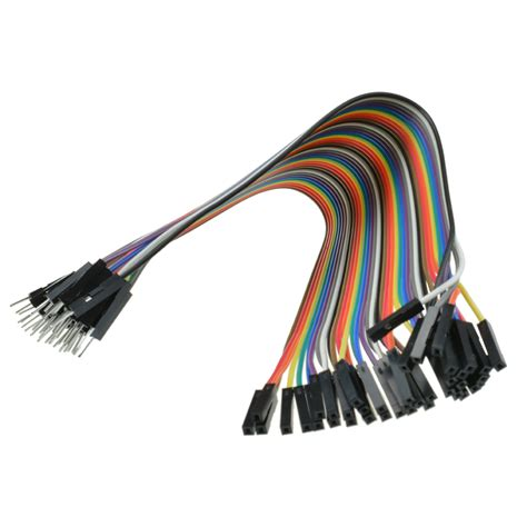 Best Quality Kabel Dupont Famale To 40pcs dupont wire color jumper cable 2 54mm 1p 1p to 20cm wc