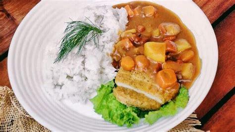 resep tempe katsu kari vegetarian masak  hari