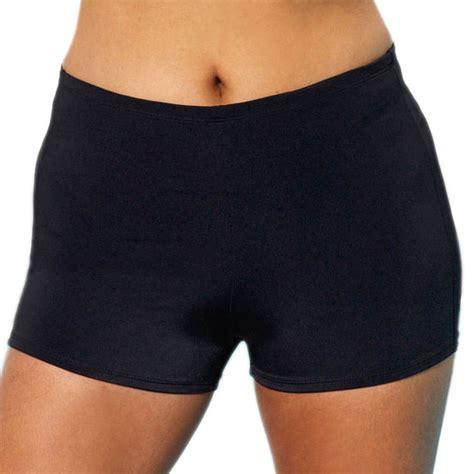 boy short swimsuit bottoms for women aquabelle women s plus size black extra life lycra boy