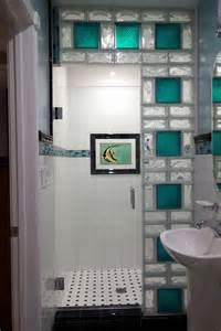 www california glass tile glass block shower wall using