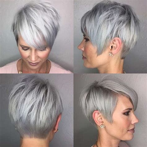 hairstyles 2017 grey hair short hairstyle grey hair fashion and women