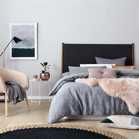 graues und gelbes schlafzimmerdekor adairs washed linen quilt cover home