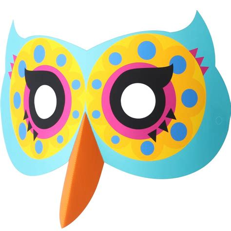 printable owl face mask free halloween printables
