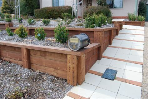 wood ideas for landscape walls retaining wall ideas
