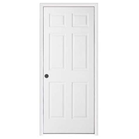 Split Interior Doors Jeld Wen 30 In X 80 In Textured 6 Panel Primed Molded Split Jamb Single Prehung Interior Door
