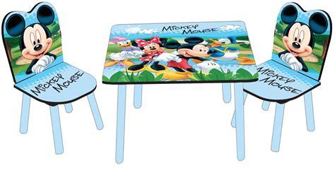 tavolo e sedie per bambini disney set tavolo e 2 sedie in legno disney mickey mouse toctocshop