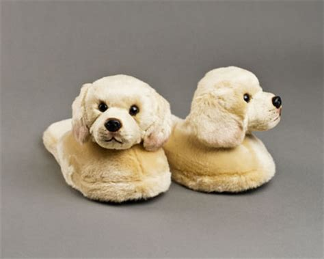 puppy slippers yellow labrador slippers animal slippers