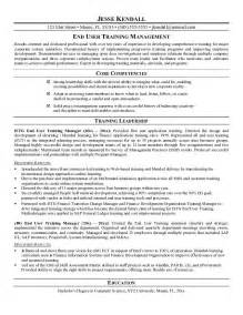 How To End A Resume by Exle End User Manager Resume Sle