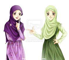 Anime Jilbab Syar I We Are In Islam