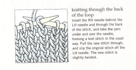 knit through front loop nityas knits quoin june 2011