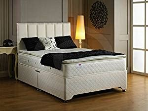 Divan Bed No Headboard by Luxury Oxford Pillow Top Quilted Divan Bed With 2 Drawers